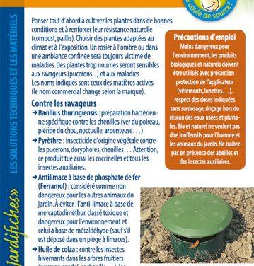 Produits et traitements bio – jardifiche n°6 (2019)