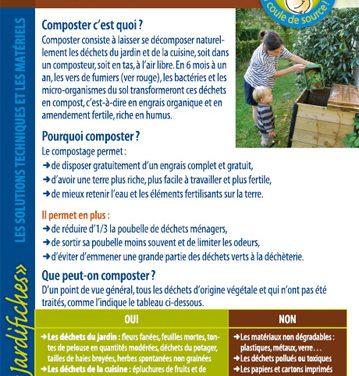 Le compostage et la récupération des déchets verts – jardifiche n°8 (2019)