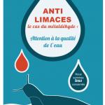 """Plaquette """"Anti-limaces - Le cas du Métaldéhyde : Attention à la qualité de l'eau"""""""