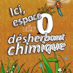 """Panneau """"zéro désherbant chimique"""