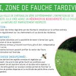 """Guide du compostage """"Panneau """"Ici, zone de fauche tardive"""""""
