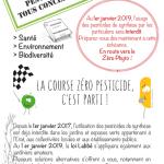 """Plaquette """"La course zéro pesticide c'est parti !"""""""