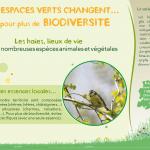 """5 panneaux """"Vos espaces verts changent..."""""""