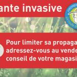 """Autocollants et panonceaux """"Plante invasive"""" - S195"""