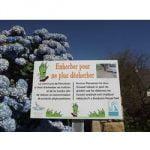 Panneau trottoirs et cimetières sans pesticide