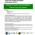 Cahier des charges d'entretien pour les espaces verts des immeubles