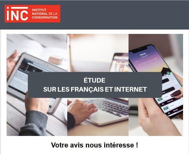 Participez à l'étude sur les Français et Internet