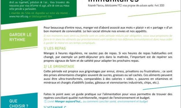 Nutrition : renforcer nos défenses immunitaires (2020)