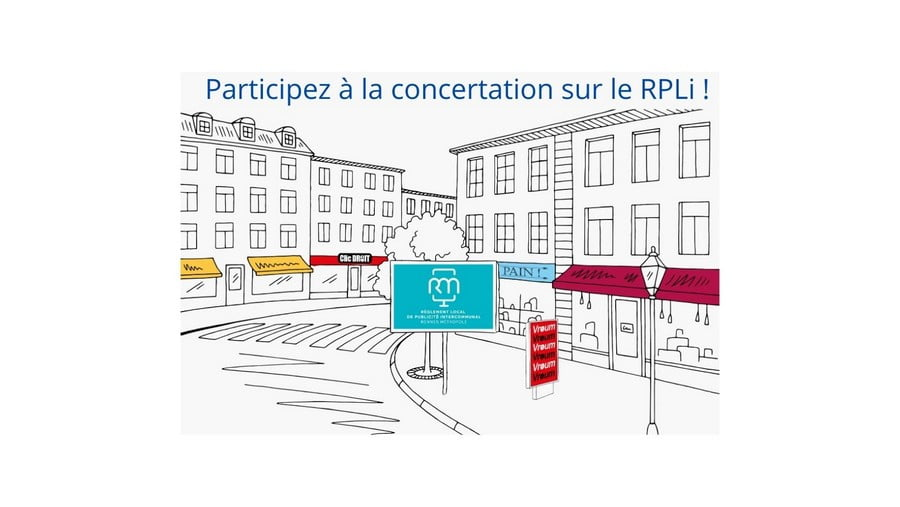 Règlement Local de Publicité intercommunal : participez à la concertation !