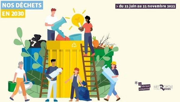 Nos déchets en 2030 : concertation des habitants de Rennes métropole !