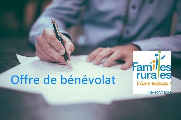 Familles rurales 35 recrute de nouveaux bénévoles !